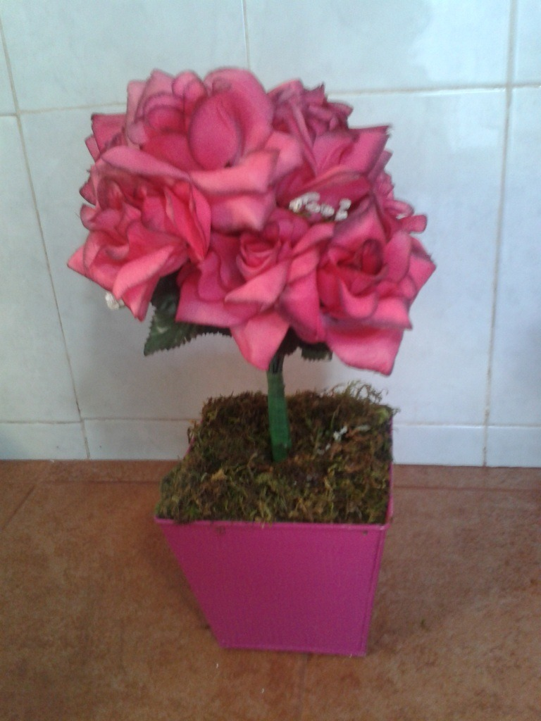 Decoracion maceta con flores artificiales mdn - Decoracion plantas artificiales ...
