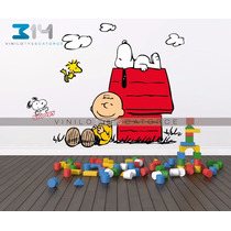 Vinilo Decorativo Snoopy Charlie Brown Para Recamara Infanti