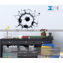 Vinilo Decorativo Fútbol-i 01b, Balón De Fútbol Deportes.