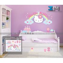 Kitty-03 Vinilo Decorativo Hello Kitty. Calcomanía De Pared.