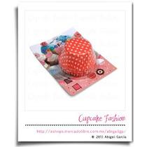 100 Capacillos Estándar Rojo Lunares Minnie Cupcake #1540