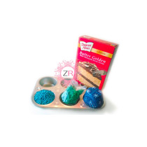 Kit Completo Para Cupcakes Navidad Capacillo Charola Perlas