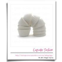 400 Capacillos Glasina Blanco Estándar #73 Cupcake #1199