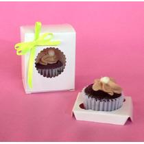 25 Cajas Minis Blancas Con Inserto (minicupcakes, Cake Pops)