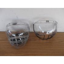 2 Regillas Casco Hockey Proteccion Acrilico Mica Bauer #a670