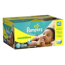 Pampers Pañales Swaddlers Tamaño 3 Economía Paquete Plus 162
