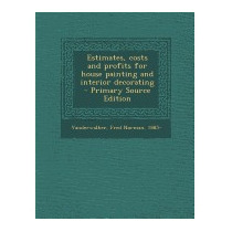 Estimates, Costs And Profits For House, Fred Norman 1885-