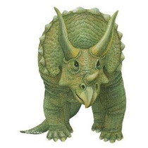 Murallas Del Triceratops Salvajes Etiqueta De La Pared