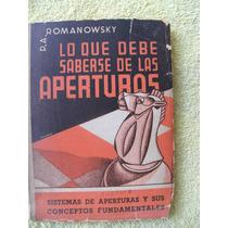 Libro Ajedrez Lo Que Debe Saberse De Las Aperturas