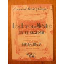 Los Toros En México En El Siglo Xix. Armando De Maria. Facsi