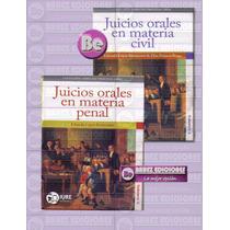 Coleccion Derecho Procesal Oral, Juicios Orales Civil-penal