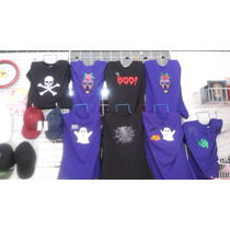 Playeras Halloween Bordadas