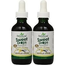 Dulce Líquido Gotas Stevia Vanilla Creme 2 Onzas (paquete De