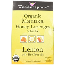 Wedderspoon Orgánicos Manuka Pastillas De Miel Con Limón Y P