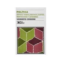 Libro Politica Metodo Teorias Procesos Sujetos Instituc *cj