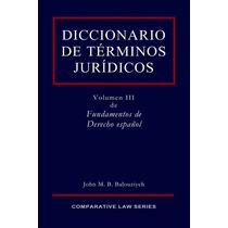 Diccionario Juridico Español Terminos Derecho Libro Digital
