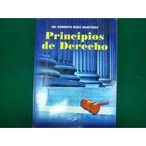 Dr. Roberto Báez Martínez, Principios De Derecho, Pac, Méxic