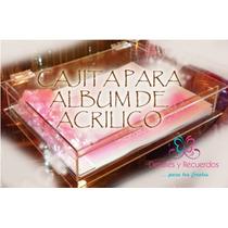 Caja De Acrílico Para Álbum T/c Despedida Baby Comunión Boda