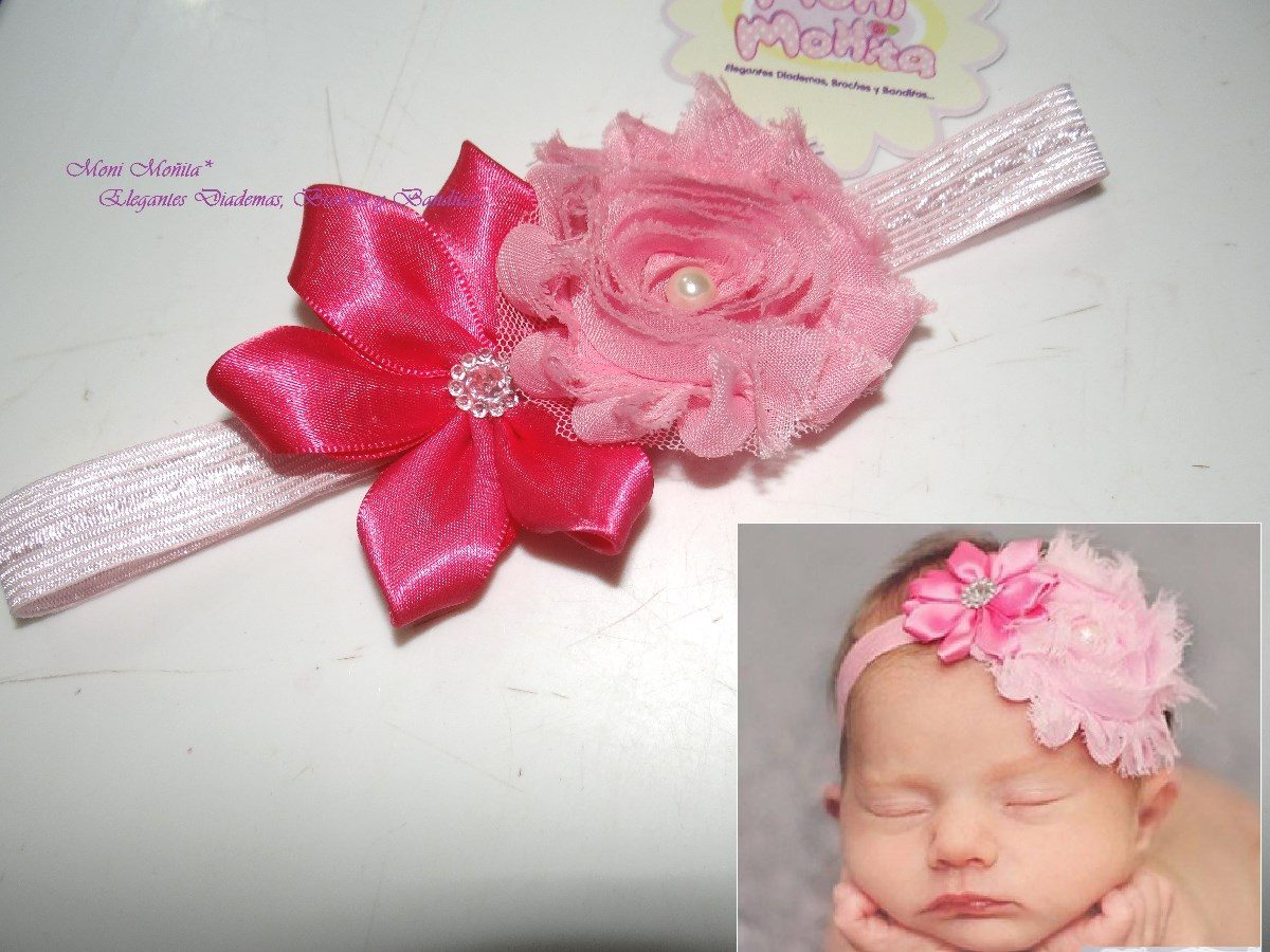 Top diademas para bebe de meses images for pinterest tattoos - Flores para diademas ...