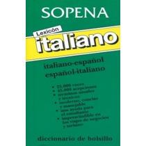 Sopena Diccionario Italiano-español Español- Italiano Vv4