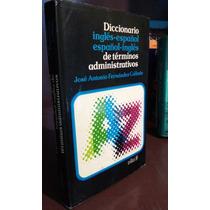 Diccionario Terminos Administrativos Ingles Español Ingles