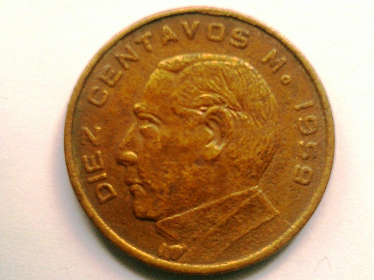 Diez Centavos de Dolar Diez Centavos de Cobre Moneda