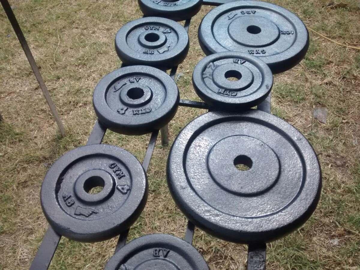 Discos para pesas y mancuernas en mercadolibre for Pesas y mancuernas