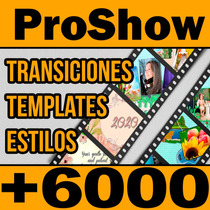 Mega Coleccion, Estilos Transiciones Templates Para Proshow