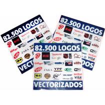 82.500 Logotipos Vectorizados Serigrafía Diseño Vectores