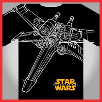 Star Wars Nave X Wing, Vectores Serigrafia, Separacion Color