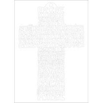 Cruz Oración Angel De La Guarda Y Padre Nuestro Corte Laser