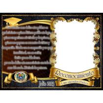Plantillas Y Diplomas Graduacion Photoshop Editables 500 Psd