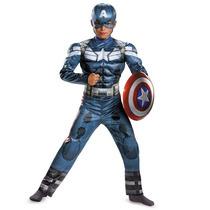 Disfraz Capitan America Niño Talla 7 A 8 Años Incluye Escudo