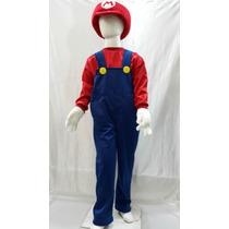 Disfraz Tipo Mario Bros Y Luigi Con Gorro