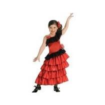 Rojo Y Negro Princesa Española Traje De Niño, Medio