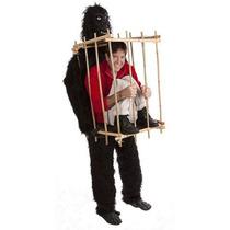 Traje Disfraz Disfras Gorila Hombre Jaula Fiesta Hm4