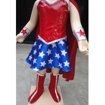 Disfraz Traje Estilo Mujer Maravilla Completo De Lujo