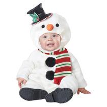 Disfraz Navidad Mono De Nieve Duende Bebe Pino Angel