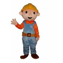 Botarga Disfraz Traje Tamaño Adulto Bob El Constructor Pm0