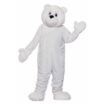 Botarga Disfraz Peluche Oso Polar Mascota Tamaño Adulto Vbf