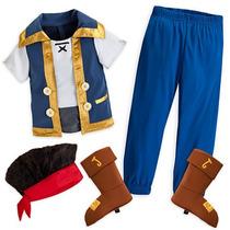 Disfraz Jake El Pirata Original Disney 5/6 Años Importado