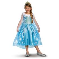 Disfraz Vestido Elsa Frozen Oficial Disney Todas Las Tallas