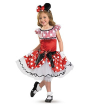 Disfraz Disney Minnie Mouse Mimi Niña Vestido Tutu Talla 4/6