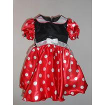 Vestido Disfraz Lujo Mimi Mouse Incluye Mallas Orejas