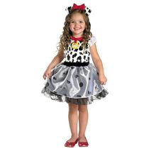 Disfraz Vestido De 101 Dalmatas Perrito Niña Talla 3/4 Años