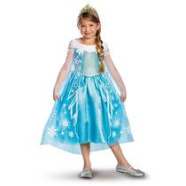 Disfraz Vestido Elsa Frozen Tiara Disney Original Importado