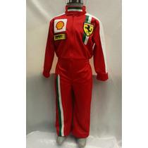 Disfraz Traje Piloto De Carreras Tipo Ferrari Para Niño Cars