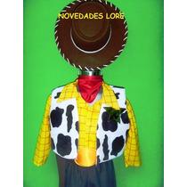Hermoso Disfraz De Woody Con Sombrero Botas Chaleco Camisa