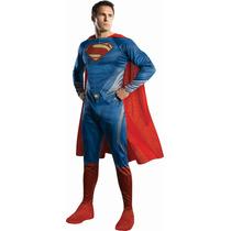 Disfraz Superman Hombre De Acero Para Adulto M, L Y Xl