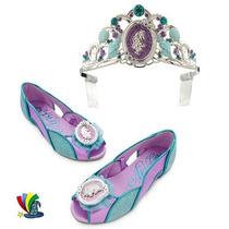 Corona Zapatos Disfraz Ariel Sirenita Original Disney Store